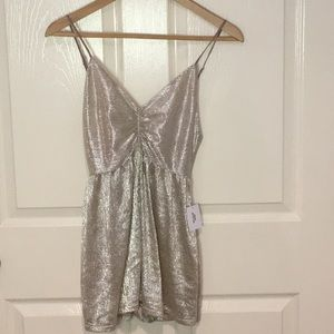 Urban Outfitters metallic romper